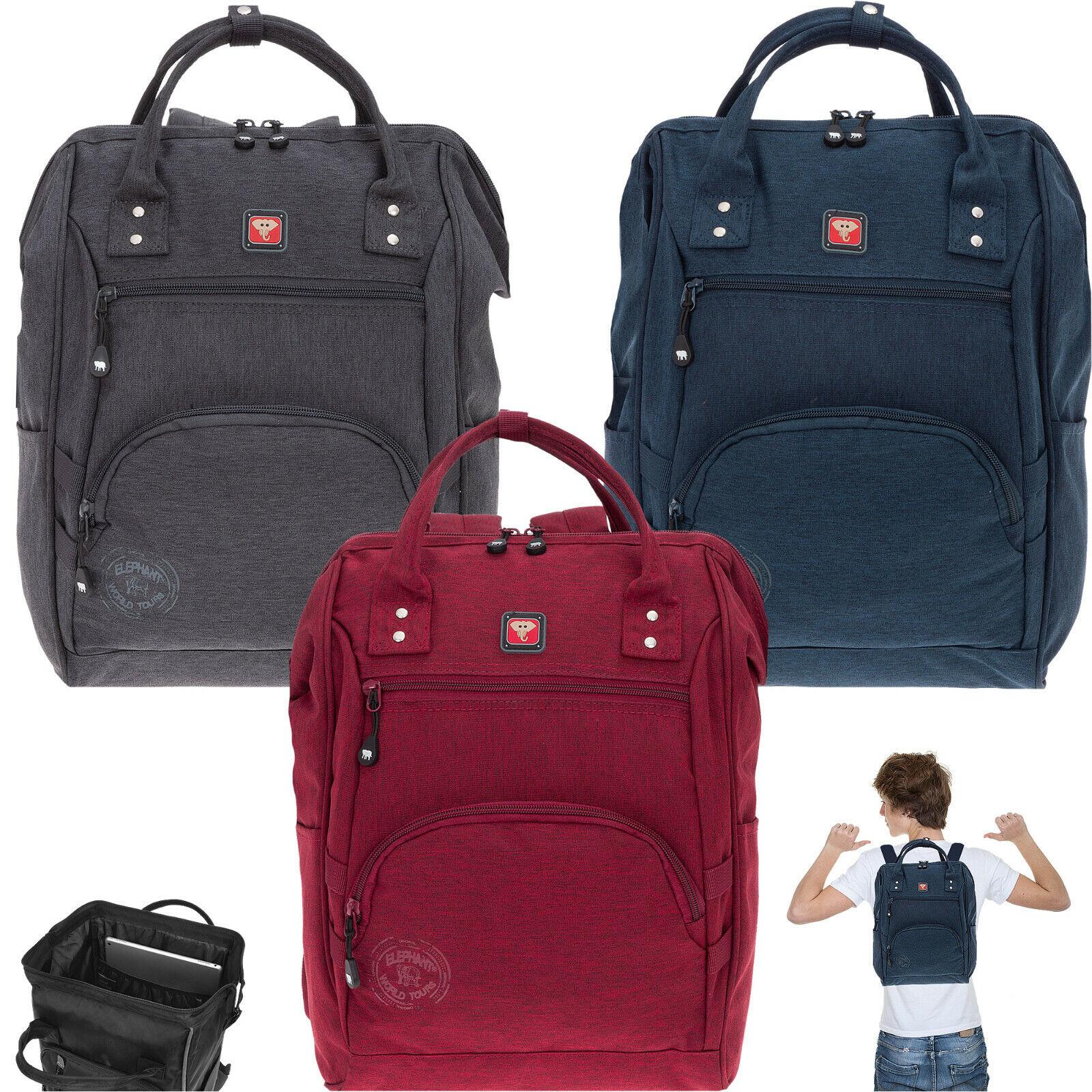Rucksack Damen Elephant Finn Color Tasche A4 Alltagsrucksack Aktentasche 3913 W