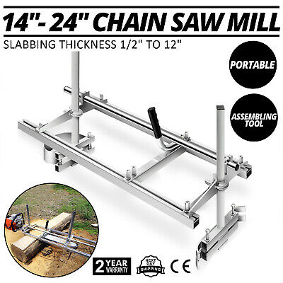 Chainsaw Mill 24-48 Portable Chain Saw Mill Aluminum Steel Planking Lumber Us