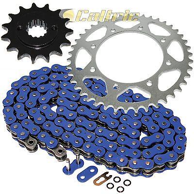 - Blue O-Ring Drive Chain & Sprocket Kit Fits KAWASAKI KLR650 KL650A KL650E 90-16