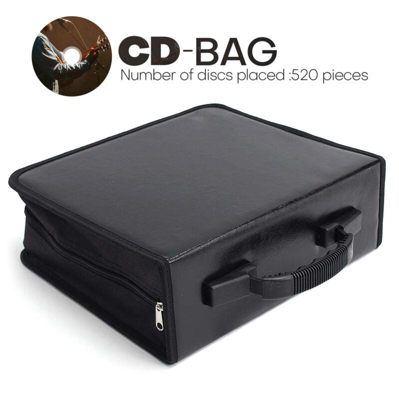 520 Disc CD/DVD Wallet Binder Book Sleeves Disc Storage Bag Carrying Case Black