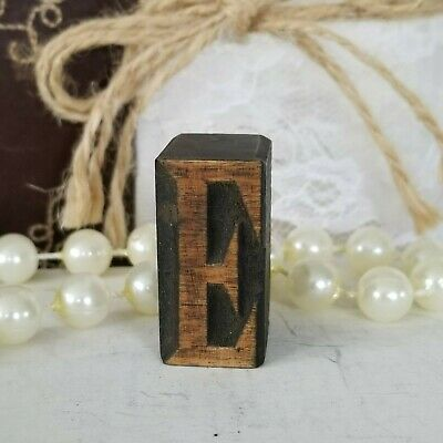 Letterpress E Letter Wood Type Printers Block Typography