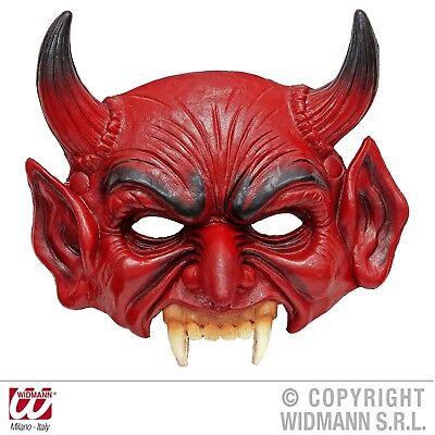 Dämon Maske (Kinnlose Teufelsmaske Schaum-Latex-Maske Teufel Dämon Luzifer Erwachsene)