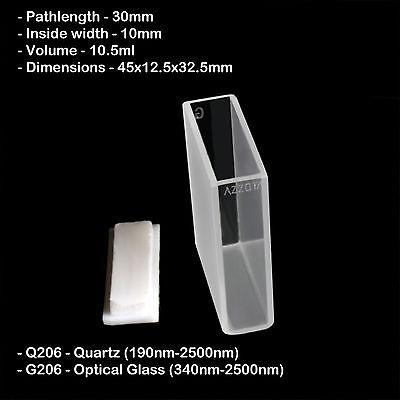Azzota 30mm Pathlength Quartz Cuvettes - 10.5ml