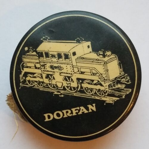 DORFAN Electric Trains Advertising Tape Measure Antique Celluloid 1920s Newark