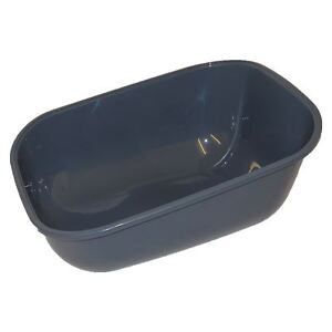Extra Deep Large Cat Litter Tray Dark Grey Box Pan Toilet Loo High Sided
