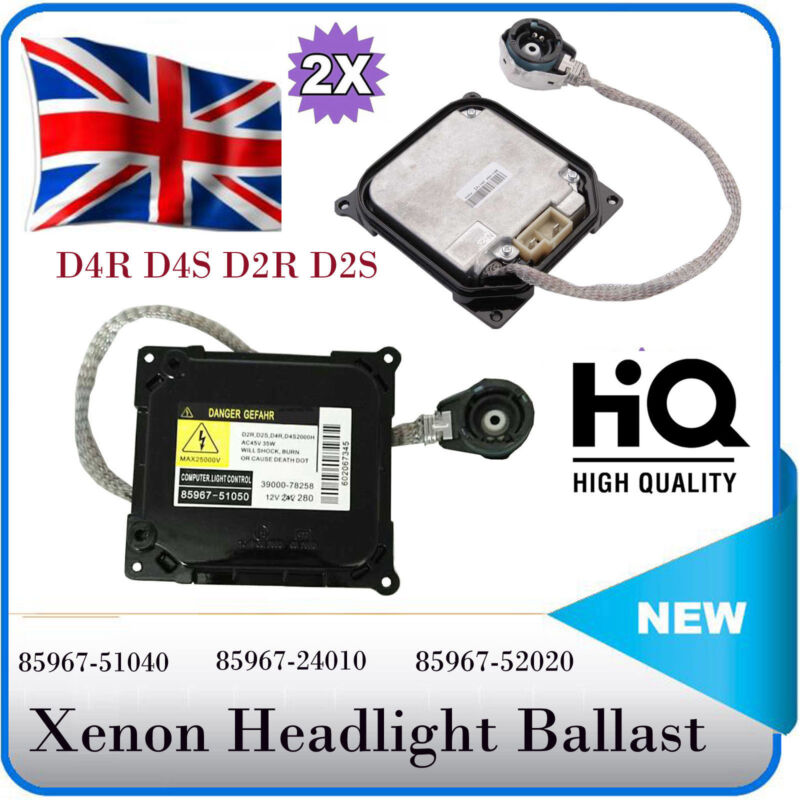 2x Xenon HID Headlight Ballast Control Unit ECU for Toyota Lexus 85967-24010 D4S
