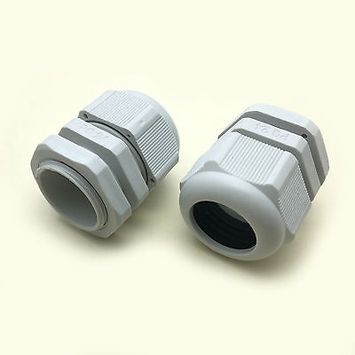 Us Stock 5pcs Pg24 White Waterproof Cable Gland Connector Cable Range 15-20mm