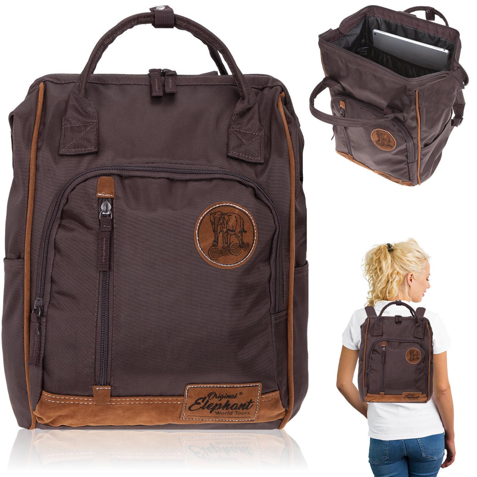 Rucksack Damen Elephant Finn Tasche A4 Alltagsrucksack Aktentasche Bag Braun