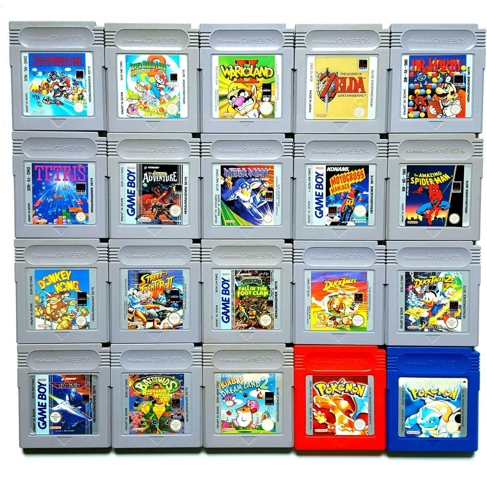 Nintendo GameBoy Spiele Zelda Tetris Mario Pokemon Kirby Mega Man Turtles uvm.