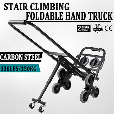 Heavy Duty Stair Climbing Climber Hand Truck Dolly Cart Trolley W Backup Wheels