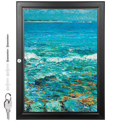 A2 Lockable Poster Frame Menu Outdoor Display Case Notice Board 19.3x26 Pubs
