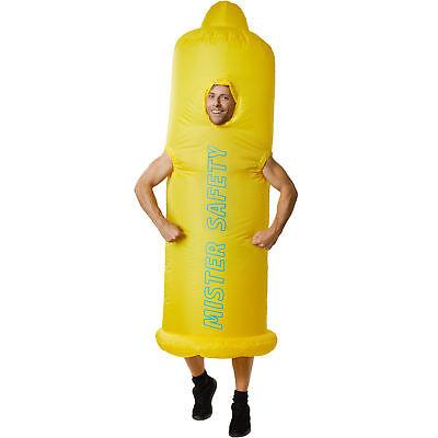 Unisex Kostüm aufblasbar Kondom Fatsuit Fasching Karneval Junggesellenabschied