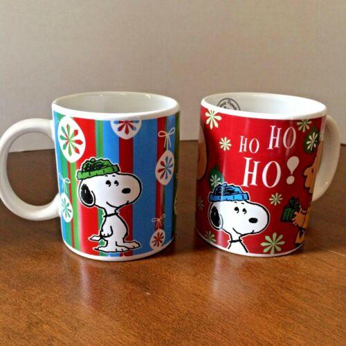 2 Peanuts Snoopy Christmas Mugs NEW Gibson