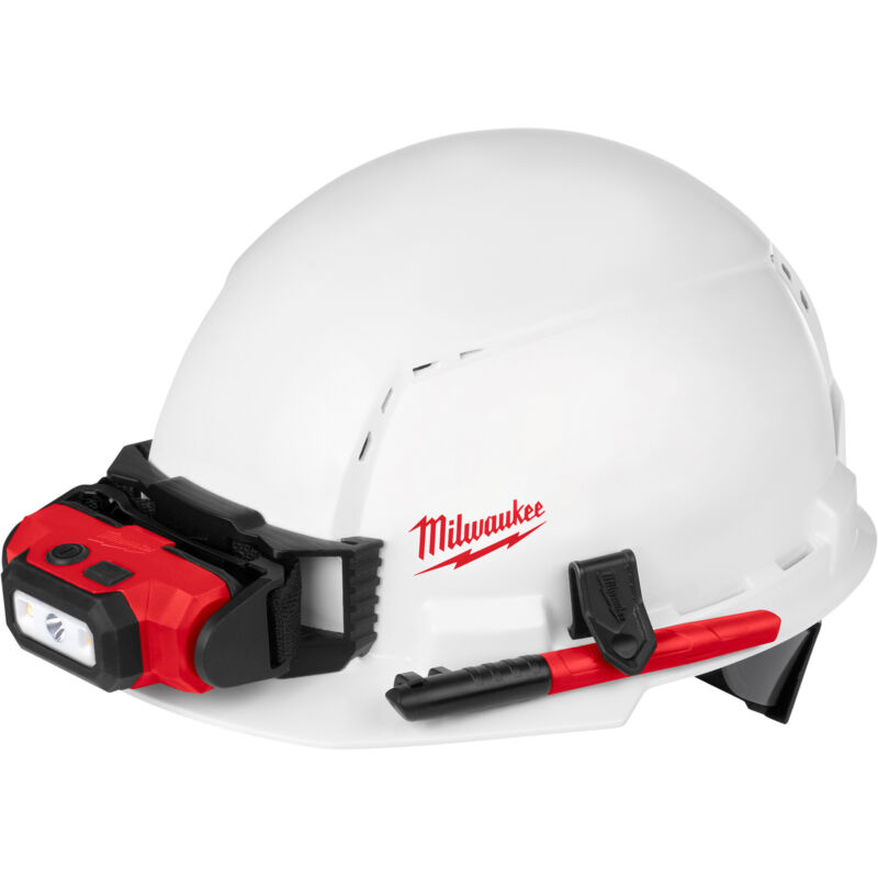 Milwaukee Front Brim Vented Hard Hat w/Ratchet Suspension & BOLT Access