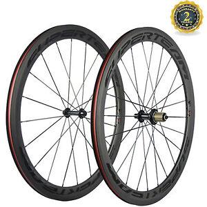Lightweight Wheels 700C Clincher 50mm Carbon Wheelset Superteam Bicycle Wheels
