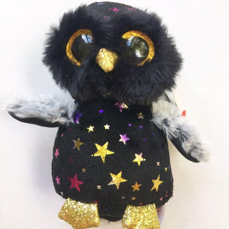"""HYDE the Owl 6"""" Plush NEW Rainbow Stars Ty Beanie Boos"""