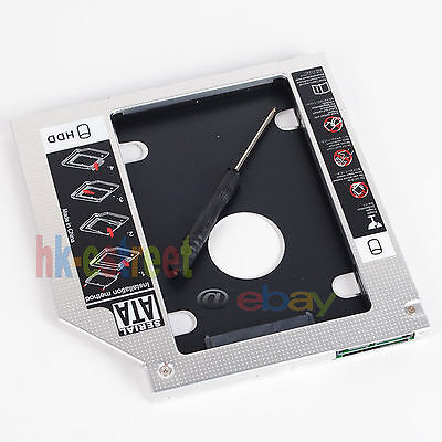 2nd SATA HDD SSD Hard Drive Enclosure Case Tray Caddy for HP 15-R099sm (Drive Tray Enclosure)