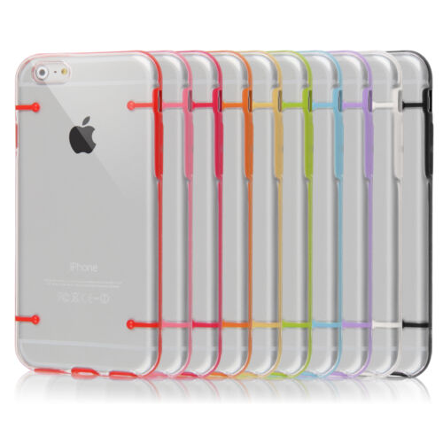 Clear Hard Back Silicone TPU Bumper Cover Case For New Apple iPhone 6 6s PLUS