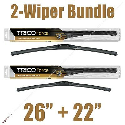 2 Wipers 26  22 Trico Force All Season Beam Wiper Blades   25 260 25 220