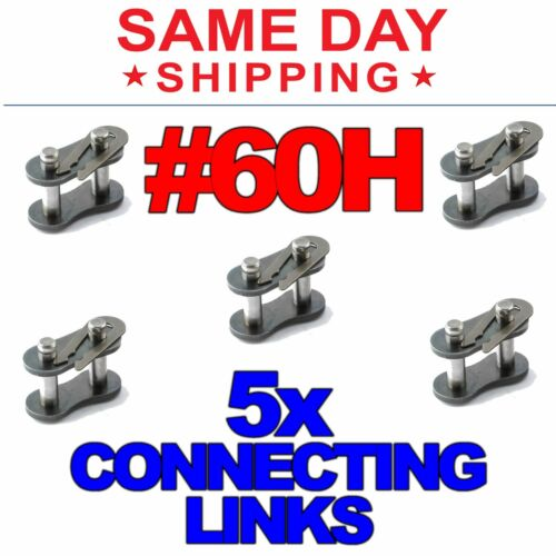 #60H Heavy Duty Roller Chain Connecting Links (Lot of 5)