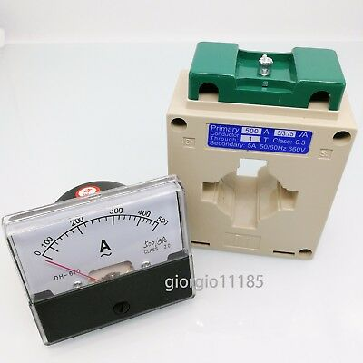 Us Stock Analog Panel Amp Current Meter Gauge Dh670 500a Ac Current Transformer