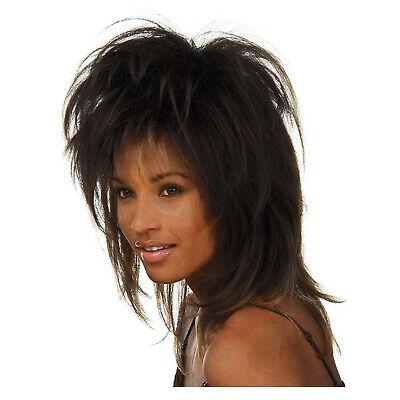 Tina Turner Halloween Costume (Adult Womens Tina Turner Singer Celebrity Halloween Costume Short Black)