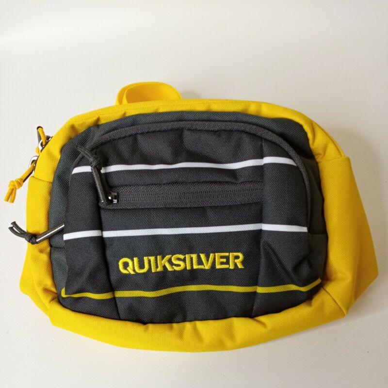 Vintage Quicksilver Ocean Trail Biking Surfing Dark Gray Yellow Fanny Pack