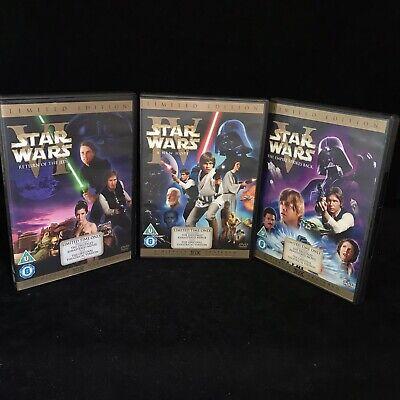 STAR WARS ORIGINAL TRILOGY 2-disc 4 5 6 iv v vi Remastered + Theatrical Versions