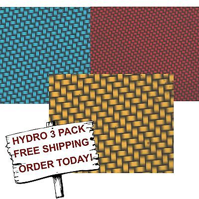 Hydrographic Film Water Transfer Printing Film Hydro Dip Colorful Carbon 3 Pack