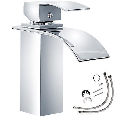 Miscelatore monocomando a cascata cromata rubinetto lavabo bagno lavandino