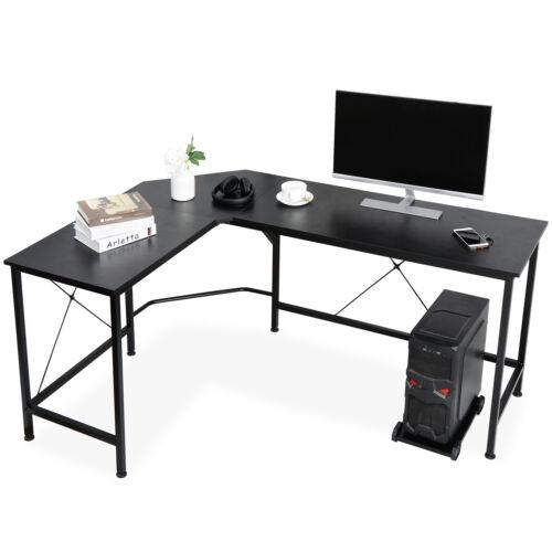 L-Shaped Desk Corner Computer Desk PC Laptop Study Table Workstation Home Office Furniture