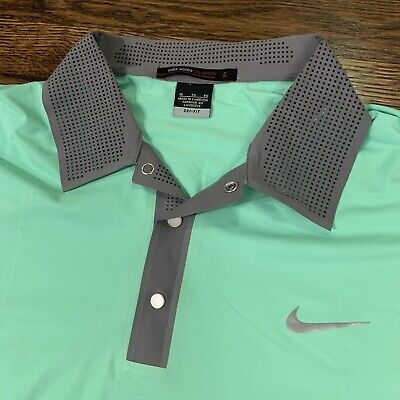Nike Tiger Woods Collection Dri-Fit Golf Shirt Polo XL Green
