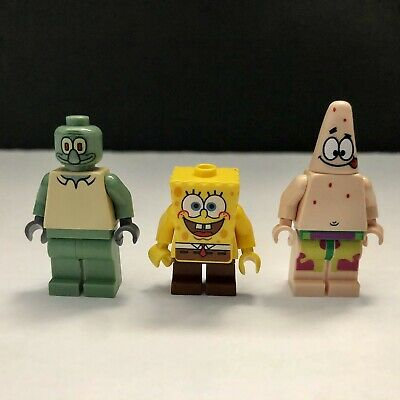 3 Lego Spongebob Patrick Squidward Minifigure Figure 3827 3825 3830 3833 Lot