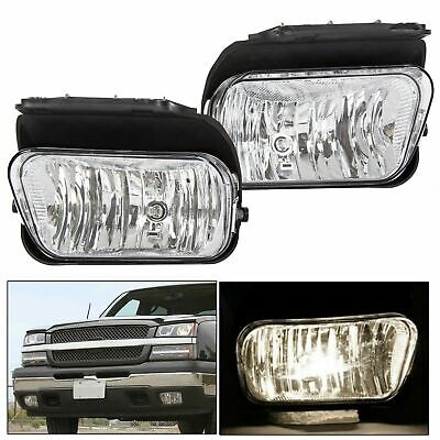 For Chevy Silverado 03-06 1500/2500/3500 Bumper Driving Fog Lights + Bulbs 04 05