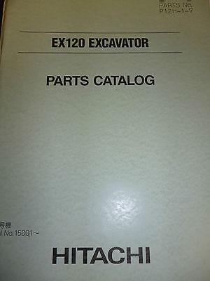 Hitachi Ex120 Excvator Parts Manual
