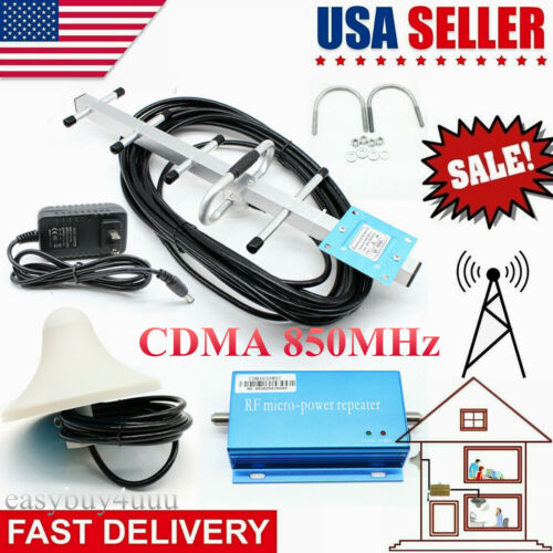 Cell Phone Signal Booster Home 3G 4G 850MHz CDMA Booster Amp