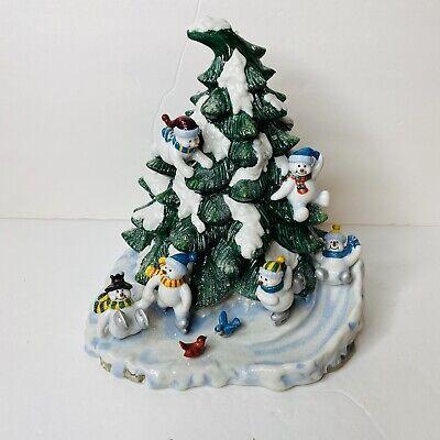 Home Interior Christmas Snowman Tree Light Up Holiday Ceramic