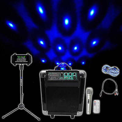 Nyc Acoustics 6 5   Karaoke Machine System 4 Ipad Iphone Android Tablet Lights