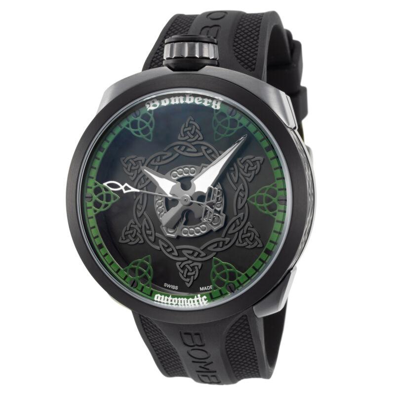 Bomberg BS45AOSP.057-2.3 Men's Bolt-68 45mm Swiss Automatic Green Dial Watch