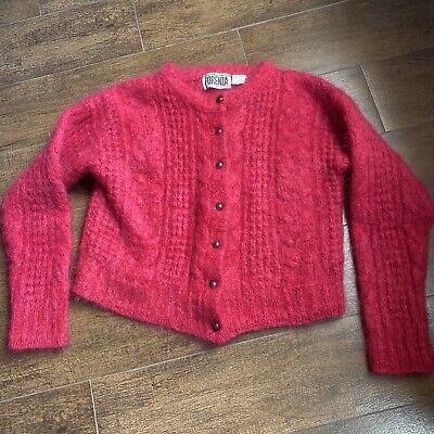 80s Sweatshirts, Sweaters, Vests | Women Vintage 1980s FORENZA Pink Mohair Cardigan Sweater Medium $32.00 AT vintagedancer.com