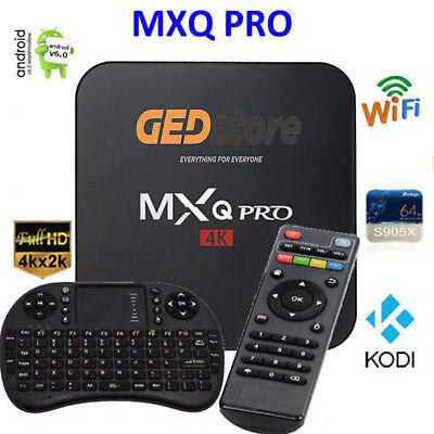 DECODER BOX TV WIFI 4K MXQ USB FULL HD INTERNET TV IPTV/OTT + TASTIERA WIRELESS