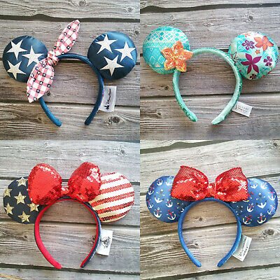 2019 New Disney Parks Aulani Minnie Mouse Ears Mickey Party Festival Headband](Minnie Mouse Stuff)