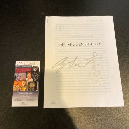 Ang Lee Signed Original Sense and Sensibility Movie Script JSA COA