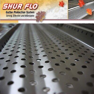 """(200 feet) 5"""" Alum Shur-Flo Gutter Leaf Guard Covers. Black, White, Bronze, Mill"""