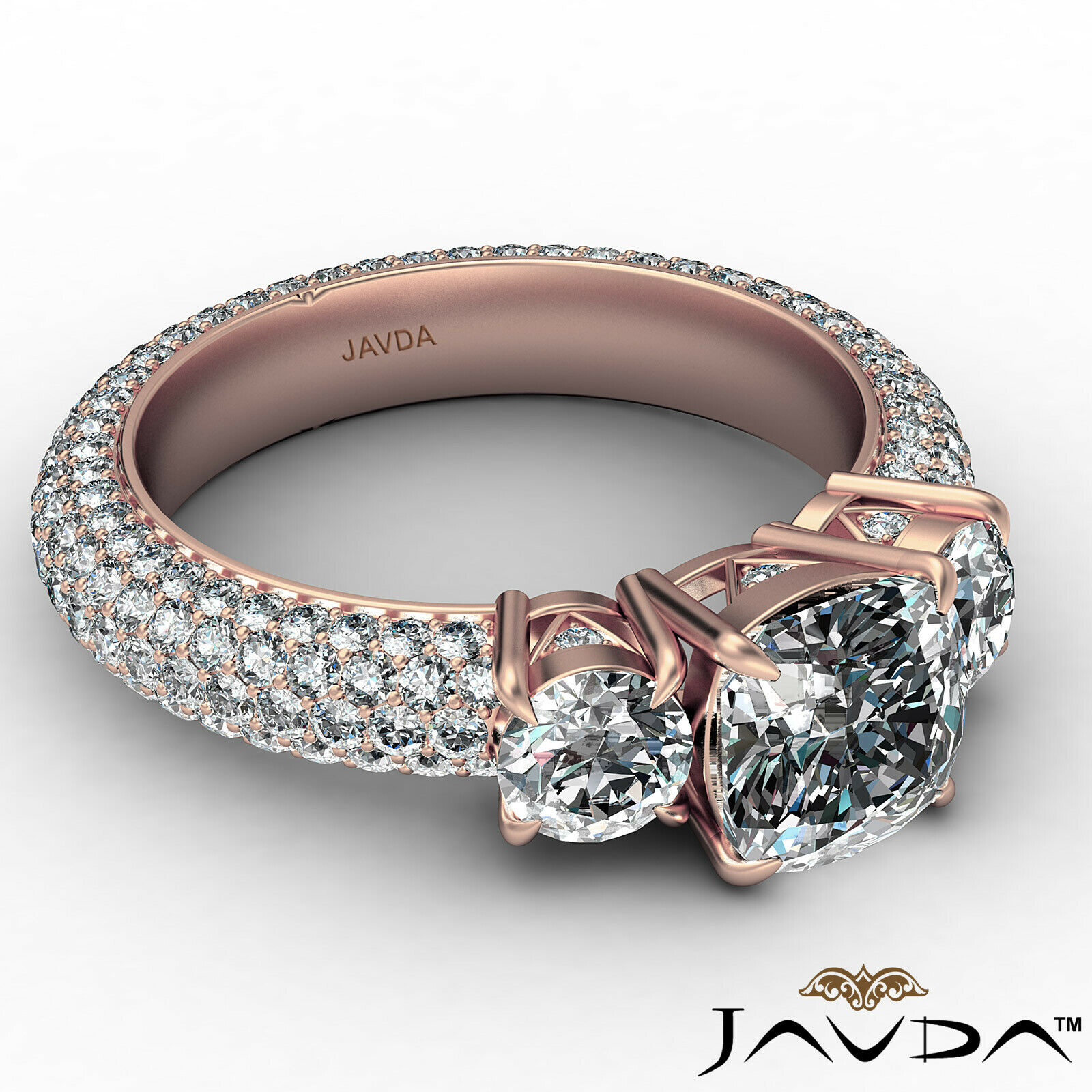 Cushion Diamond Engagement Ring Certified by GIA, G Color & SI1 clarity 3.44 ctw 8