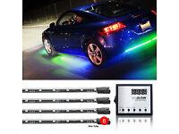 PINK PREMIUM 12pcs LED UNDERCAR+INTERIOR LED NEON ACCENT LIGHT KIT 3PATTERN
