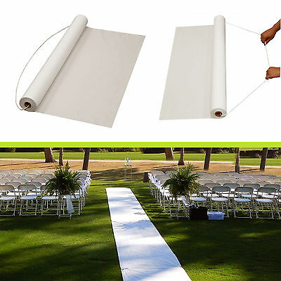 "Wedding Aisle Runner Marriage Ceremony Carpet Party Decor White Roll 36"" 50 Feet"