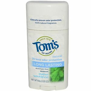 Tom's Of Maine Woodspice Deodorant - Aluminum Free - 24 HR Protection 64g