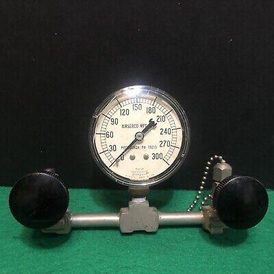 Vintage Marsh Instrument Co Airserco Mfg Co Gauge Steampunk Air Pressure