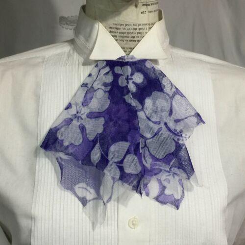 Purple pixie Jabot necktie fairy Collar floral tie Geechlark 311